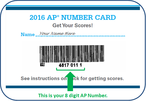 Photo of an AP Number Card and Label
